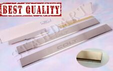 Stainless Steel Door Sill Guard Covers Scuff fit Mitsubishi Colt 2002-2013 5D