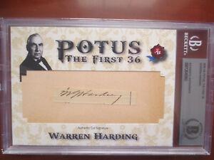 President Warren Harding 2020 Historic Autographs HA POTUS Cut Auto Beckett BAS