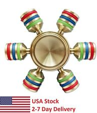 Hexagonal Fidget Hand Spinner,Metal Finger Toy, Focus, Stress, Autism, ADHD,Gift