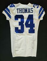 #34 Thomas of Dallas Cowboys NFL Locker Room Player Issued Jersey