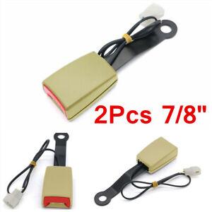 """2 Sets Beige 7/8"""" Safety Seat Belt Buckle Socket Plug Connector Kit For Car SUV"""