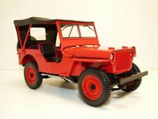 JEEP WILLYS rouge 1/18 Sapeurs Pompiers