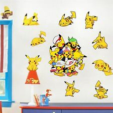 Cartoon Pocket Monster Pikachu POKEMON GO Wall Sticker PVC Decal Kids Room Decor