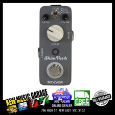 MOOER SHIMVERB REVERB MICRO GUITAR EFFECTS PEDAL TRUE BYPASS