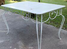 Rare table en fer forgé Design des années 50 Belle qualité Vintage Loft Industri