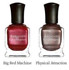 LOT DEBORAH LIPPMANN Nail Polish BIG RED MACHINE & PHYSICAL ATTRACTION Magnetic