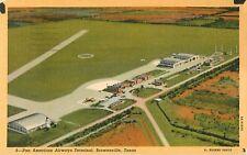 1947 Pan American Airways Terminal/Airport, Brownsville, Texas Postcard