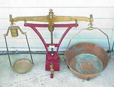Antique Parson's Balance Scale w Brass & Copper. Bradford IL ?