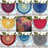 Bohemian Mandala Beach Throw Blanket Hippie Yoga Mat Round Towel Tapestry Shawl