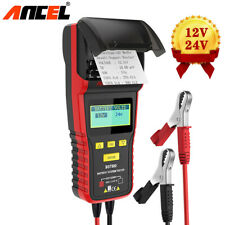 12 24V Car&Truck Automotive Car Battery Load Tester Analyzer With Printer BST500