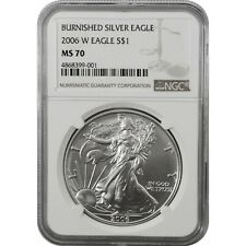 2006-W American Eagle Burnished Silver one Dollar Coin NGC MS70