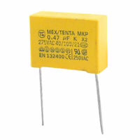 AC 275V 10% 0.47uF DIP Safety Capacitors MKP X2 10 Pcs