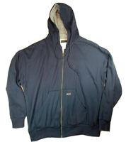Dickies Blue Zip Up Hooded Sweater Jacket Mens Size XL Fleece Warm Heavy Duty