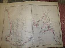 South Australia Circa 1863 Weekly Dispatch Atlas E.Weller 31x43 cm Framed 20more