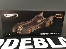 1989 MOVIE BATMOBILE ELITE EDITION 1/43 DIECAST CAR MODEL BY HOTWHEELS X5494