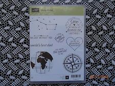 Retired Stampin Up ! Going Global Cling Clear Stamp Set  9 Stamp ~ NIP