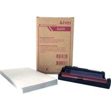 """Hiti Carta e Ribbon Print Pack per S420 STAMPANTE, 50 FOGLI 4 x 6"""" stampe"""