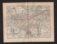 Landkarte map 1890: Afganistan. ASIEN Persien Russland