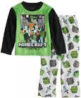Minecraft Pajama Set 2 piece Steve and Alex Overworld Mob PJs Pajamas New