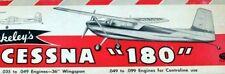"Vintage CESSNA 180 36"" Berkeley FF/RC PLAN + Parts Patterns for Model Airplane"