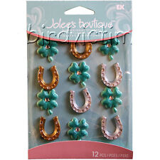 Jolees Cabochons Clover Shamrocks Horseshoes Lucky STICKERS PACK FREE USA SHIP