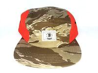 BODEGA Camo Mesh 5 Panel Hunting Hat Orange One Size Fits All Adjustable