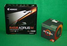 AMD Ryzen 3 2200G RX Vega Graphics & Gigabyte B450 Aorus M mATX Motherboard KIT!