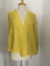 NWT Anthropologie Nansen Pointelle Cardigan Size Large in Yellow