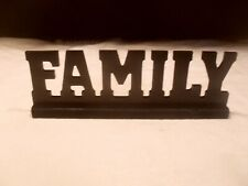 """New listing New ~ Décor Tabletop Inspirational Wooden Cutout Sign ~ """"Family�"""