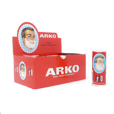 12 x ARKO SHAVING SOAP STICK FULL BOX + FREE ARKO AFTER SHAVE CREAM