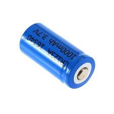 New 3.7V 1000mAh CR123A 16340 Li-ion Rechargeable Battery EW