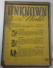 UNKNOWN WORLDS PULP DEC 1941 LESTER DEL REY THEODORE STURGEON CLEVE CARTMILL