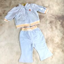 Cherokee Girls Baby Track Suit Playwear Cotton Blue Size 6 Months