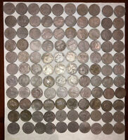 Old Colombia Coins 5 Centavos Lot-1935 -1946+ 110 Pieces Nickel Great Coins
