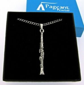 Clarinet Silver Pewter Pendant On A Chain