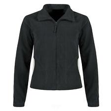 Ladies Fleece Jacket Womens Windproof Polar Zip Up Soft Warm Anti Pill Coat Top
