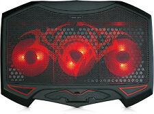 Notebook Laptop RADIATORE COOLER Kühlpad CAVALLETTO 3 x LED Ventole | per 10 - 17 pollici