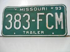 plaque immatriculation  usa 1993 missouri license plate old americaine