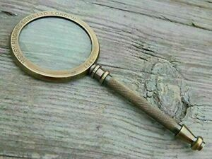 Maritime Henry Hughes London Brass Magnifying Glass Antique Magnifier Gift