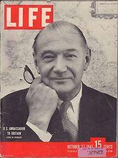 LIFE October 27,1947 Lewis W Douglas / San Quentin / Old Ironsides Hero