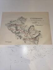 1885 County Fermanagh Map Ordnance Survey Office Boundary Commissioners Report