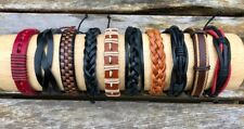 Wholesale bracelets jewelry lot 10 PCS  leather bracelets adjustable Set-8