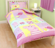 Official Peppa Pig 'Cupcake' Single Duvet Cover Bedding Set