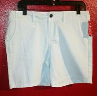 Merona Women's Blue Chino Short size 6 New with Tags