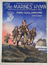 USMC Charging 1942 The Marines' Hymn Piano Solo Simplified by John W. Schaum