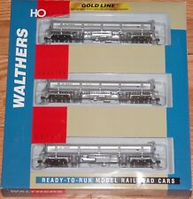WALTHERS 932-37901 GOLD LINE DIFCO DUMP CAR 3-PACK UNION PACIFIC UP SILVER