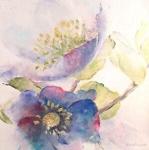 Giclee Canvas Painting Fabrice de Villeneuve 'Soft & Elegant' Decor 100x100cms