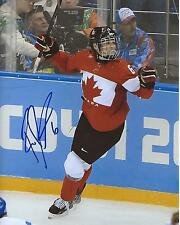 Rebecca Johnston Signed 8×10 Photo Team Canada Sochi Olympic Gold Autograph COA