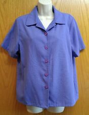 Sag Harbor purple Blazer jacket short sleeve size 14