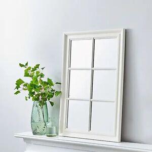 Stunning Window Wall Mirror 90x60cm White BEDROOM   LIVING ROOM   CORRIDOR